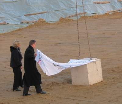 Laying of the foundation stone of the new building of the Technologie- und Gründerzentrum (TGZ III)