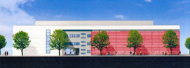 Concept of the architecture firm 'Assmann' for the new building of the Technologie- und Gründerzentrum (TGZ III)